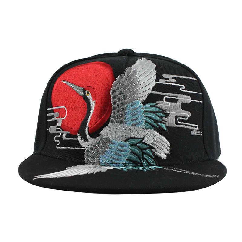 ...  FLB calidad bordado Hip Hop gorra de béisbol para hombres y mujeres  Crane Snapback hueso ... f1db41a3797