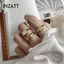 INZATT, настоящее 925 пробы, серебряное кольцо в форме сердца с буквой J, модное женское минималистичное кольцо Hophip, хорошее ювелирное изделие, аксессуары