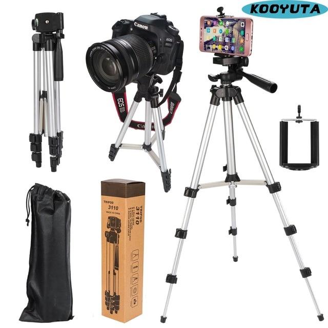 عالمي أربعة أرضية عالية قابلة للتعديل + طوي الحامل ثلاثي الأرجل للكاميرا والهاتف المحمول توفير حامل هاتف مع صندوق البيع بالتجزئة