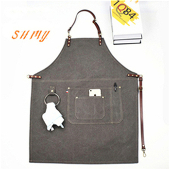 Mens Cooking Aprons | Denim Kitchen Cooking Apron With Adjustable Cotton Strap Large Pockets Blue Barista Men And Women Homewear
