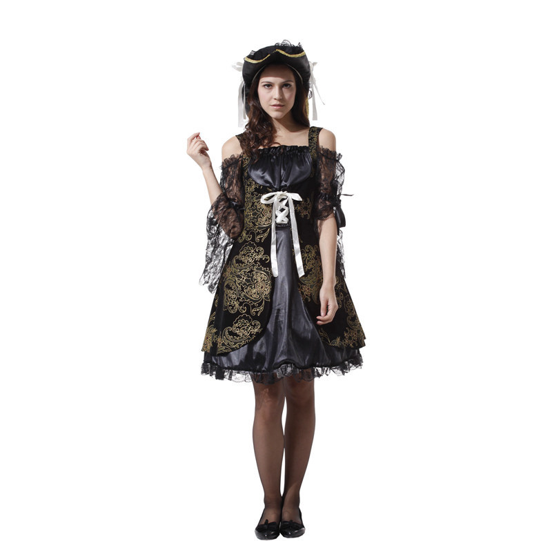 2019 New Carnival Clothing Halloween Costume Hooker Pirate Couple Cosplay Adult Jack Captain 39 s Costume Dance Party in Movie amp TV costumes from Novelty amp Special Use