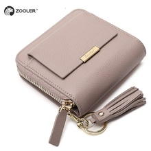 ZOOLER 2019 hot genuine leather wallet famous design zipper purse brand coin purses Russia  #8901