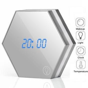 Digital Wall Clock Desktop Alarm Clock With Night Light Snooze Display Mirror Function Light-emitting For Bedroom Living Room digital clock