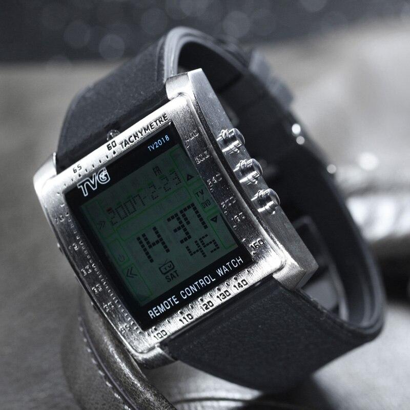 630ae6c3534 TVG שעוני ספורט גברים אופנה חכם מרחוק צפה צבאי הוביל שעון דיגיטלי מעורר  גברים עמיד למים שעון יד Relogio Masculino ב-TVG שעוני ספורט גברים אופנה חכם  מרחוק ...