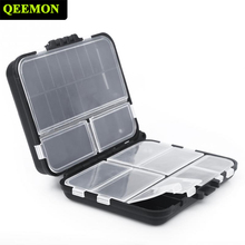 Double Sided Tackle Box High Strength Waterproof Environmentally Fishing Lure Tackle Bag Case Movable Interlayer