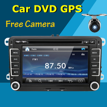 2din 7inch Car DVD GPS player For Volkswagen VW POLO PASSAT CC JETTA TIGUAN TOURAN Bora GOLF 5 6 4 Free cam Parking Sensor