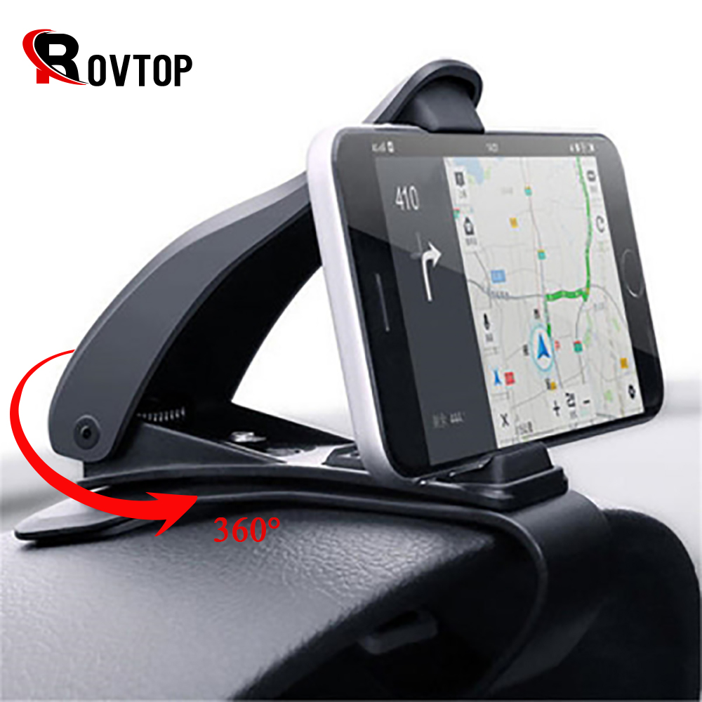 Rovtop Car Phone Holder Mount Stand Holder for Cell Phone in Car GPS Display Dashboard Bracket For iphone Xiaomi Samsung Huawei держатель для телефона