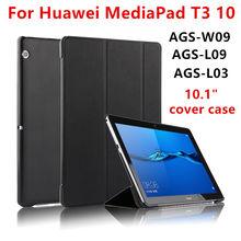 """T3 10 AGS-W09 AGS-L09 AGS-L03 del caso Para Huawei Mediapad 9.6 """"pulgadas Cubierta de la Tableta de Casos de Protección Cubiertas de la Manga de Cuero de LA PU Protecto"""
