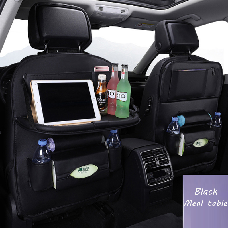 Blue Car Seat Back Bag Organizer Storage  Phone Sundries Holder Hanging HM