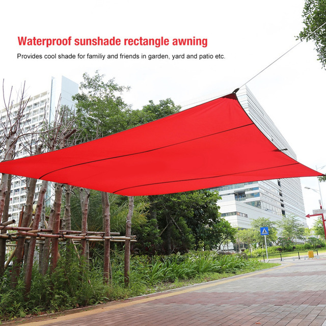 6 Sizes New Sand Sun Shade Sail Sunscreen Rectangle Polyester Awning