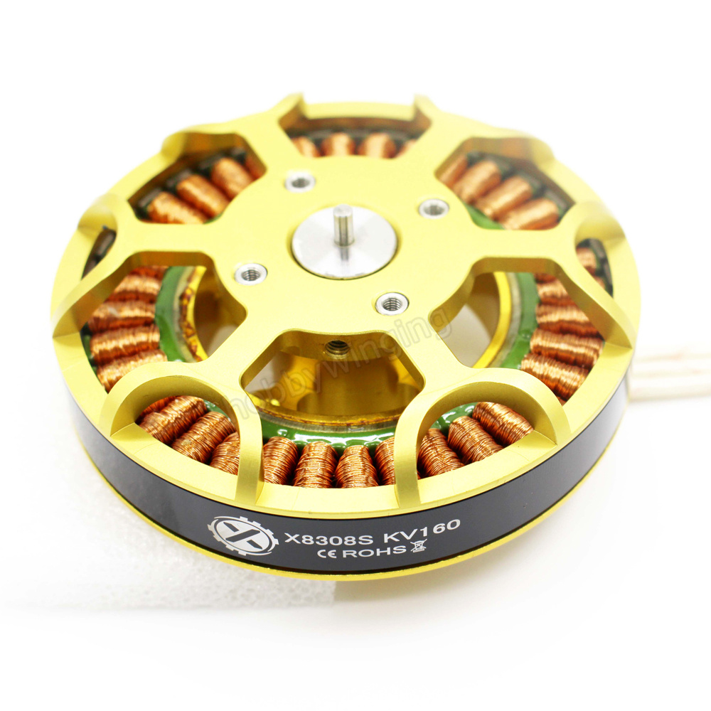 X8308S Brushless Motor High Power High Loading Motor for Large Hexacopter Octocopter Agricultural Drone HLY W9225 eft eight axis power distribution management module high current pdb for diy agricultural drone octocopter