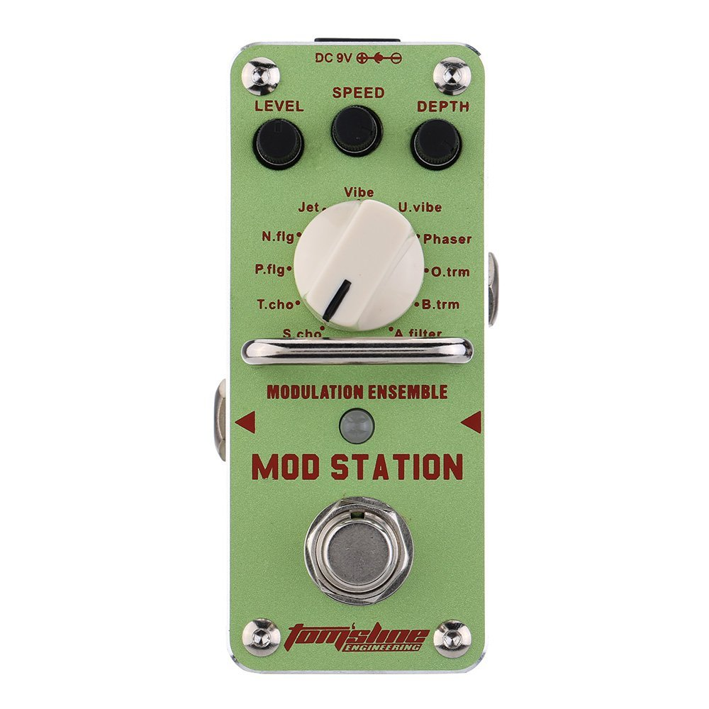 AROMA AMS-3 Guitar Effect Pedal Mod Station Modulation Ensemble Electric Guitar Effect Pedal Mini Single Effect with True Bypass aroma aos 3 octpus polyphonic octave electric guitar effect pedal mini single effect with true bypass