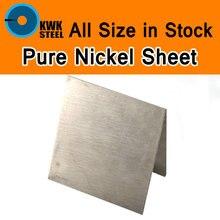 ورقة النيكل النقي لوحة النيكل النقي ASME Ni200 UNS N02200 W. Nr.2.4060 N6 لوحة الكهربائي الأنود تجربة لتقوم بها بنفسك المواد
