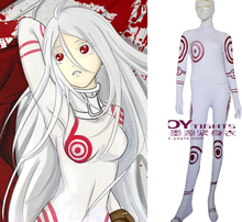 Movie Coser-5 High Quality Spandex Shiro In DEADMAN WONDERLAND Cosplay Zentai Cosplay Costume