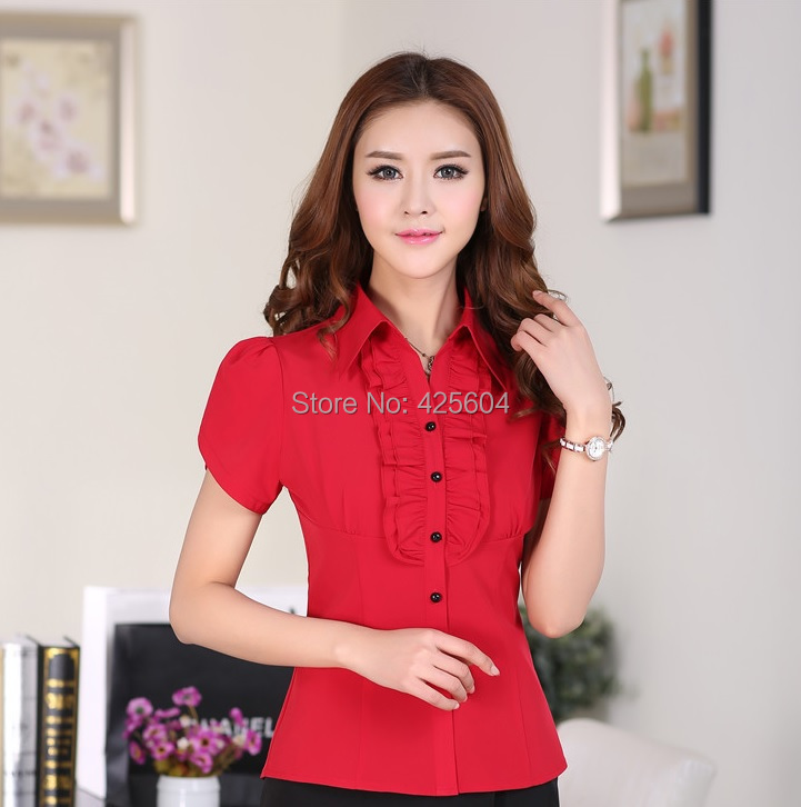 Aliexpress.com : Buy New 2015 Fashion Blouses Women Work Shirts ...