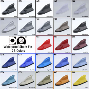 Image 2 - Waterproof shark fin antenna special auto car radio aerials Stronger signal Piano paint Suitable for most car models