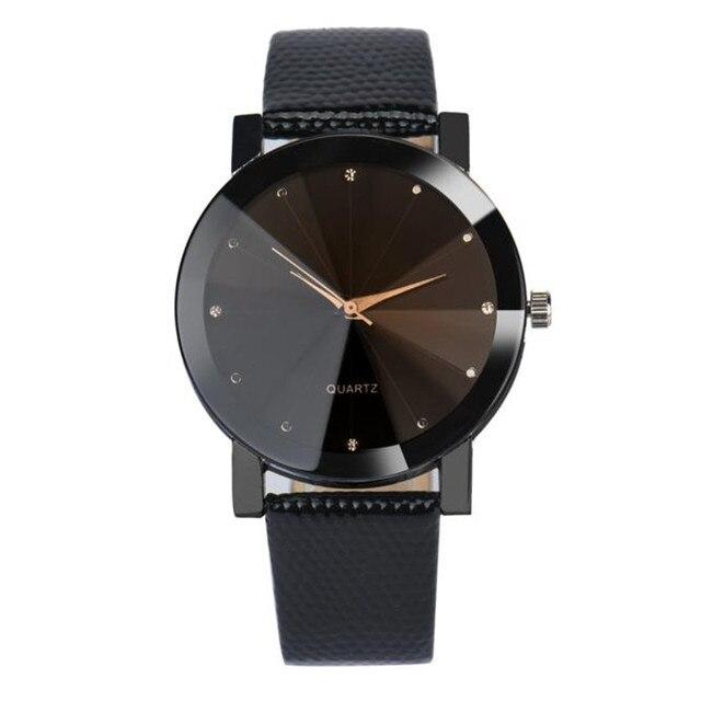 2018 reloj de los hombres de la marca de lujo Unisex popular mujer relojes de cuarzo de acero inoxidable banda de cuero reloj de pulsera reloj regalo de moda de A15