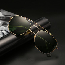 2019 Fashion Pilot Polarized Sunglasses Women Glass Lens Driving Sun Glasses Men Brand Designer Square Aviation Sunglasses UV400