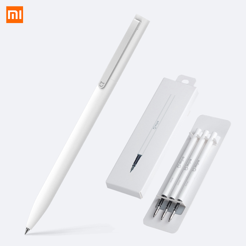 Xiaomi Pen Mijia Pen With 0.5mm Swiss Refill 143mm Rolling Roller Ball Mi Xiaomi SignSigning Ballpoint