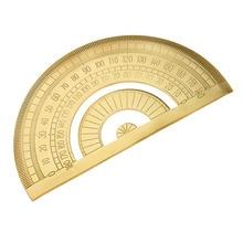 4 Pieces/Set Mini Brass Math Geometry Ruler Jewelry Measuring Tools