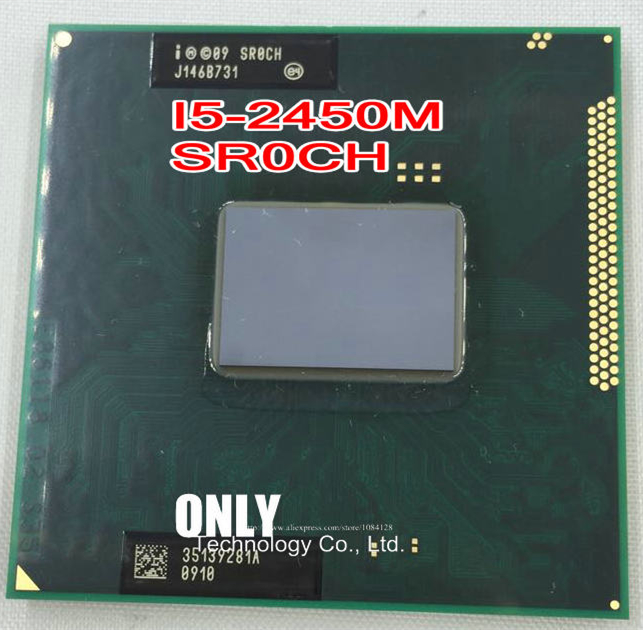 free shipping INTEL CPU I5-2450M SR0CH I5 2450M SROCH 2.5G/3M HM65 HM67 100% new and original CPU(China)