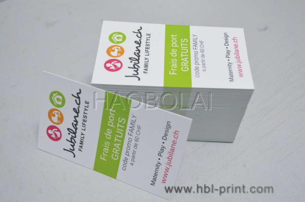 Very Cheap Business Card Paper 300g Matte Finished Right Square Full