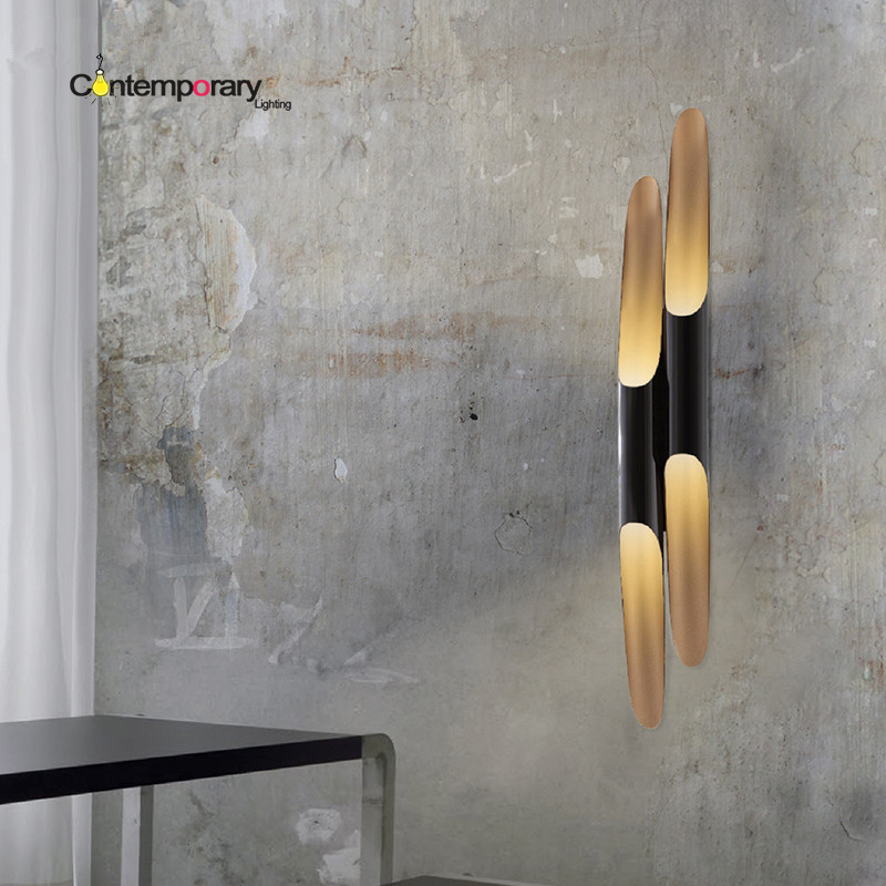 Industrial Black Nordic Modern Simple Coltrane Bevel Aluminum Cylinder LED Wall Lights Circular Tube Wall lamp Home Lighting aluminum tube nylon bevel blush brush