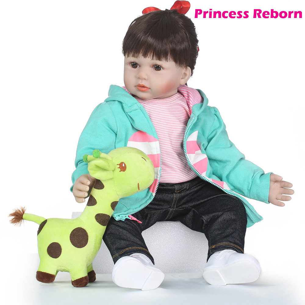 58cm Real Girls Baby Doll Realistic Soft Silicone Newborn Princess Doll Handmade Vinyl Bebe Alive Reborn Dolls for Kids Playmat58cm Real Girls Baby Doll Realistic Soft Silicone Newborn Princess Doll Handmade Vinyl Bebe Alive Reborn Dolls for Kids Playmat
