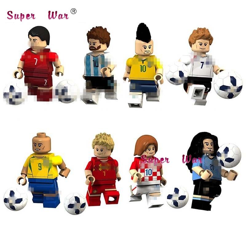50pcs Lionel Luiz Ronaldo Neymar Beckham De Modric Bruyne Cavani Famous Football Player Figures Building Blocks Toys For Boys Curing Cough And Facilitating Expectoration And Relieving Hoarseness