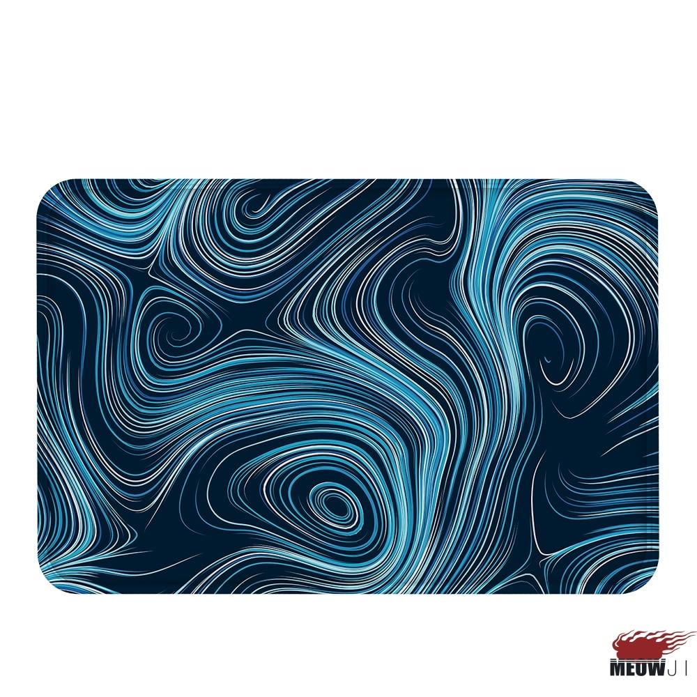 miaoji glaring inconstant curve soft carpet doormat bath mat feet water absorbent nonslip