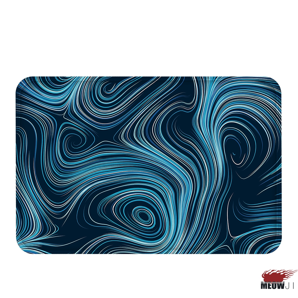 MIAOJI] Glaring Inconstant Curve Soft Carpet Doormat Bath Mat Feet ...