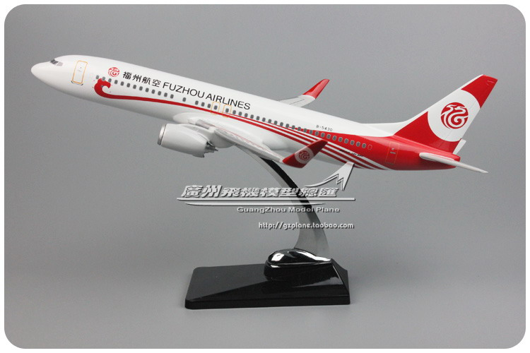40cm Resin B737-800 Fuzhou Airlines Airplane Model Boeing 737 B-5430 Aircraft Airways Airbus Plane Model Aviation Scale 1:100 40cm resin aircraft model boeing 737 nigeria airways airplane model b737 med view airbus plane model stand craft nigeria airline