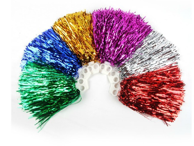Free Shipping.Cheering pompom cheerleading Metallic pom pom Cheerleading products,20G,7 colours ballroom costume