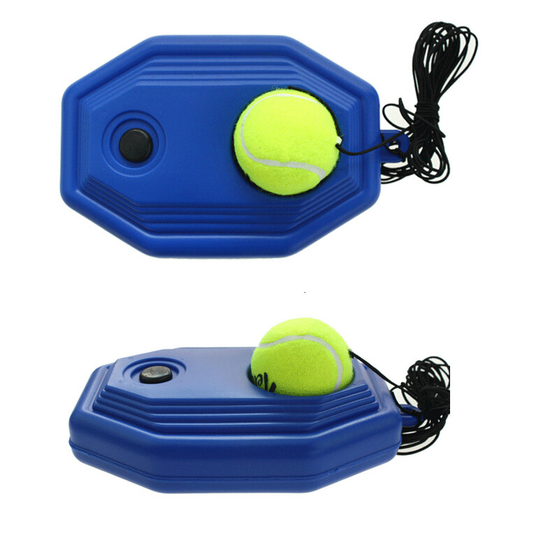 Tennis Training Aids Tool with Elastic Rope Ball Practice Self-Duty Rebound Tennis Trainer 1set MSYR Tennis Ball Singles Training Practice Balls Tennis Ball Back Base Trainer