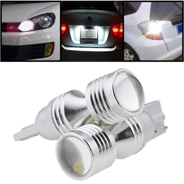 2pcs T10 194 W5W 30W Car Fog Lamps Light Sourcing High Power LED External Lights Auto Driving Bulbs Lamp Universal White 12V 24V