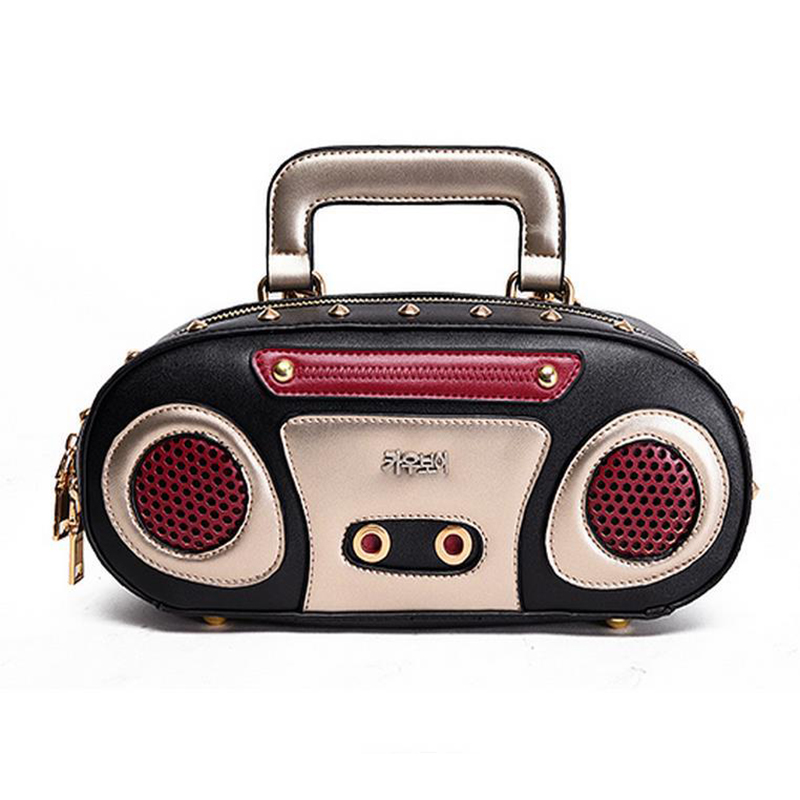 pillow radio. 2016 new fashion pu leather women shoulder bag radio rivet hot vintage crossbody pillow type l