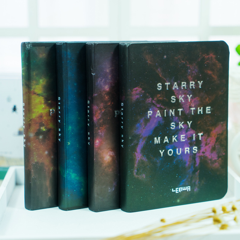 Creative Notebook Cover : Space starry sky series cover notebook a notepad creative