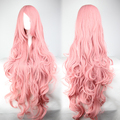 MCOSER Free Shipping Cheap 85cm Long Vocaloid- Luka Pink Wavy Anime Cosplay  wig