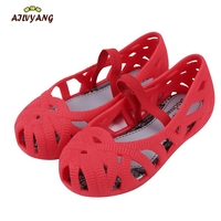 Children Summer Sandals Baby Girls Casual Hollow Breathable Sandals Little Kids Princess Jelly Shoes