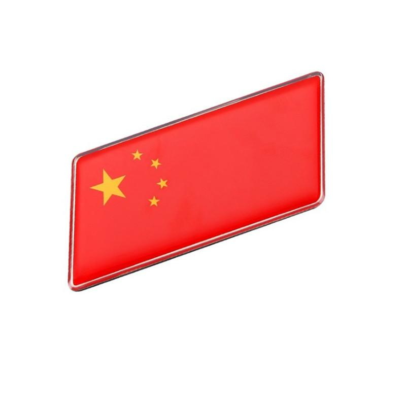 China Country Flag Name License Plate Car Decoration Stainless Steel Accessory