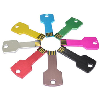 10pcs/lot Key Shape 128mb 256mb 512mb 1gb 2gb 4gb 8gb Metal U DISK USB Flash Stick gift Pendrive Disk 2.0 Drive