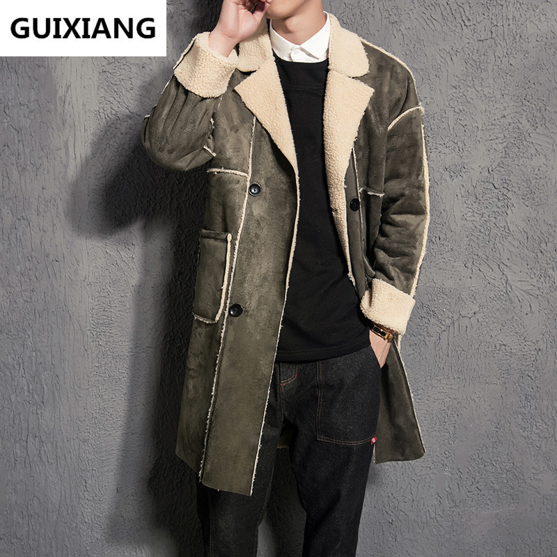 2017 winter Men's fashion casual thicken   trench   coat Men high quality windbreaker jackets coats Men's Cotton wadded jacket