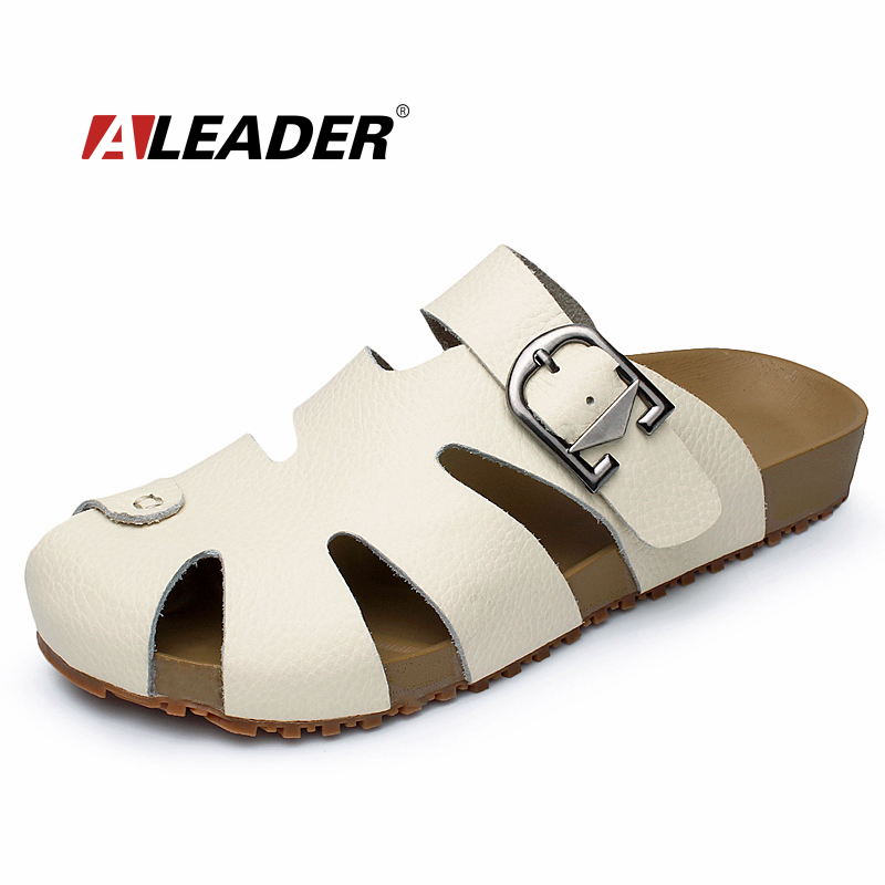 Womens Summer Casual Leather Sandals Shoes New 2017 Closed