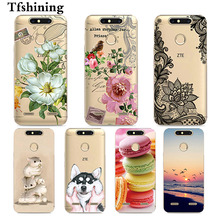 Tfshining Case Cover For ZTE Blade V8 mini 5.0 Painting Phone Case Silicone TPU Gel Cute Back Shell Bag For ZTE V8 mini Fundas смартфон zte blade v8 mini золотистый