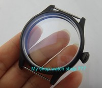 44MM 316L stainless steel watch case with Plating black fit 6497/6498 Mechanical Hand Wind movement 17 8a