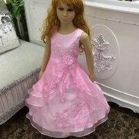 Factory Wholesale 2016 New Kids Dresses For Girls 2 14 Years Champagne Flower Girl Dresses