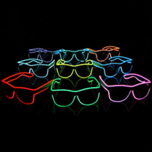 Free Shipping 50pcs/lot Sound Music Voice Activate led glasses El Wire Glow Sun Glasses light up glasses for DJ/Party Supplies