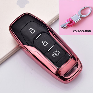 Image 3 - 2019 Soft TPU Key Cover Case For Ford Fusion Mondeo Mustang F 150 Explorer Edge 2015 2016 2017 2018 Car Styling Key Protection