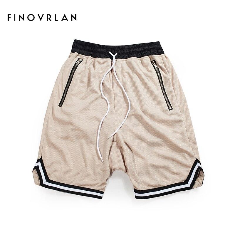 2018 New Arrivals Mens Vintage Style Men Mesh Haren Shorts Zipper Pocket Shorts Mesh Hip Hop Shorts Drop Crotch Shorts