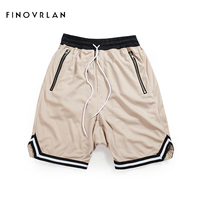 2018 New Arrivals Mens Vintage Style Men Mesh Haren Shorts Zipper Pocket Shorts Mesh Hip Hop